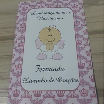 Livrinho de Orações Personalizado Nascimento Menina