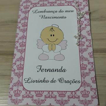 Livrinho de Orações com Mini Terço Nascimento Menina