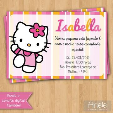 Convite - Hello Kitty