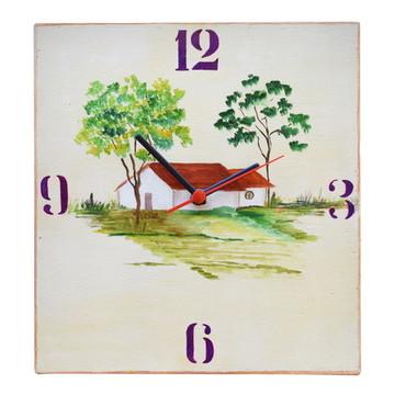 Relógio em madeira: Casa do campo