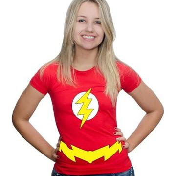 Camiseta Flash Feminina Festa Fantasia