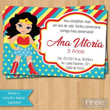 Convite - Mulher Maravilha