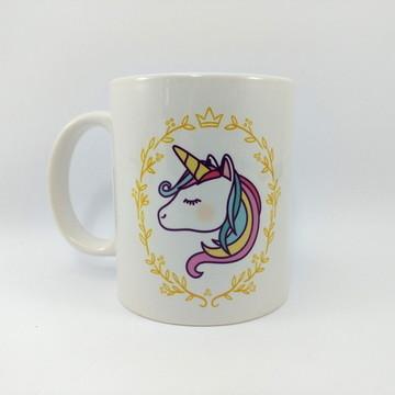 Caneca aniversario unicornio