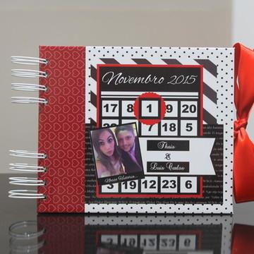 Álbum Scrapbook Personalizado calendário