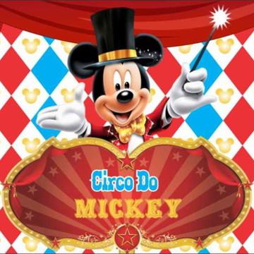 Painel Mickey Circo G - Frete Grátis