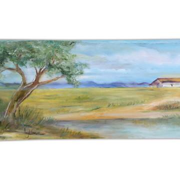Pintura em madeira: Árvore do campo
