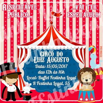 Convite Express Circo virtual digital