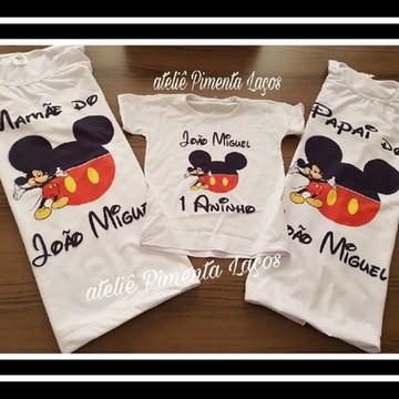 Conjunto Camisetas Estampadas tema Mickey