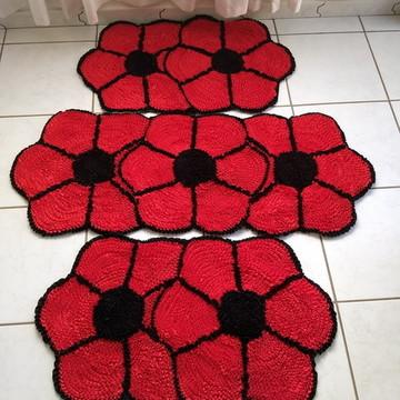 Jogo cozinha flores+ Jogo bw 4 peças + borboleta