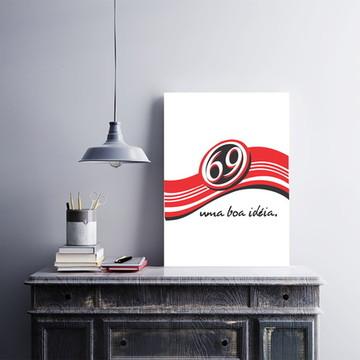 Placa decorativa MDF 69 Uma Boa Ideia