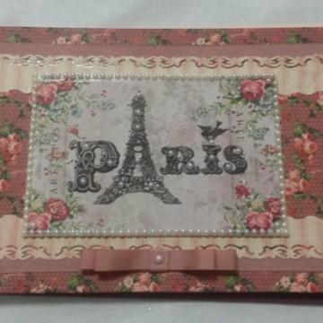 CADERNO DECORADO PARIS