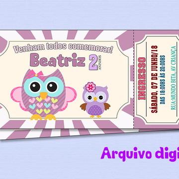 Convite Corujinha Digital