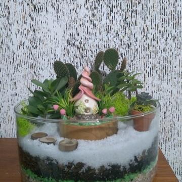 Cogumelo casa das fadas para terrario