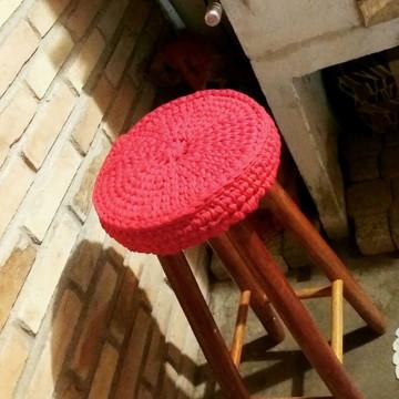 Capa para banco de madeira em croche