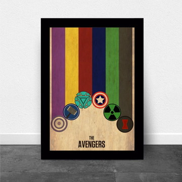 Quadro/Poster The Avengers Thor, Captain America, Iron Man