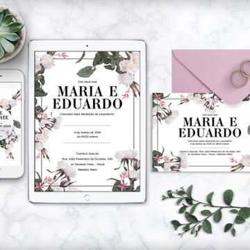 Convite (arte digital) Rosas