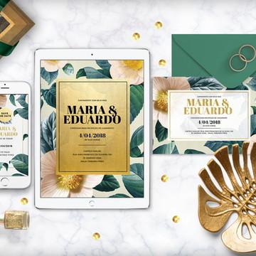 Convite (arte digital) Magnolia