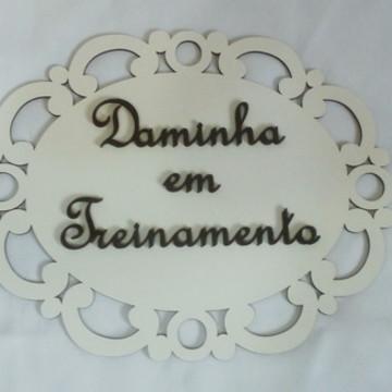 Placa para cerimonia de casamento Daminha ou pajem