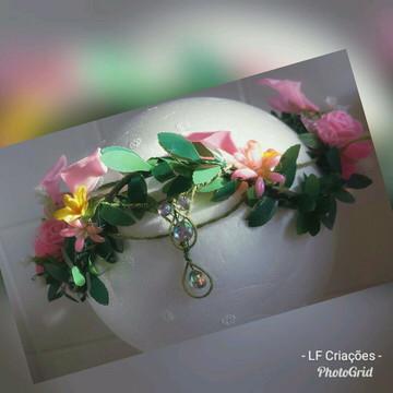 Tiara de Flores Gestantes e Casamento