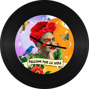 Relógio de Vinil - Frida