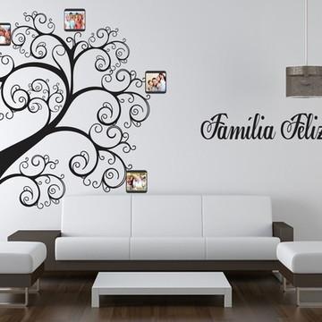 839d24353 Adesivo De Parede Árvore Genealógica Ornamental