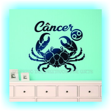 Adesivo Decorativo Signos Z Cancer