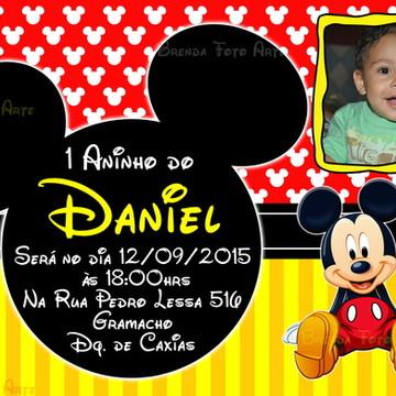 Convite Mickey Mouse