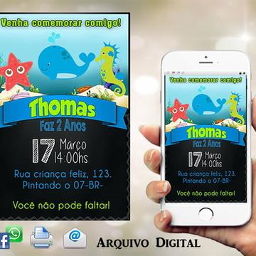 Convite Fundo do Mar Digital