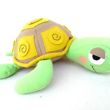 Tartaruga em Feltro - Tema Fundo Do Mar