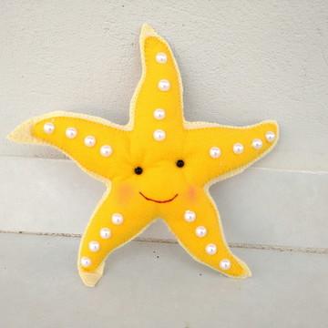 Estrela do Mar em Feltro - Tema Fundo Do Mar
