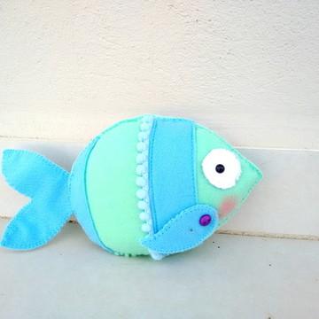 Peixe em Feltro - Tema Fundo Do Mar