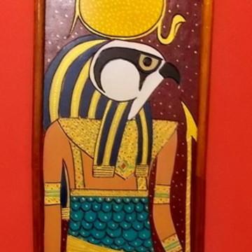 Quadro Egípcio Rá Deus do Sol - Decoração Oriental