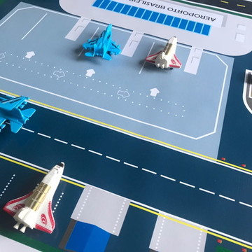 Pista Hot Wheels mega pista cidade + aeroporto 3x1 metros