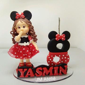 Mini vela de biscuit Minnie Vermelha
