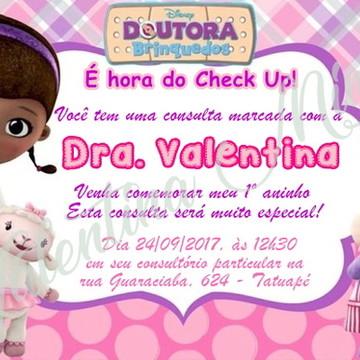 Convite Digital Doutora Brinquedos - FRETE GRÁTIS