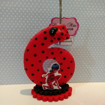 Vela lady bug de biscuit