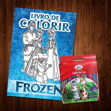 Livro de Colorir Frozen (Lápis de Cor)