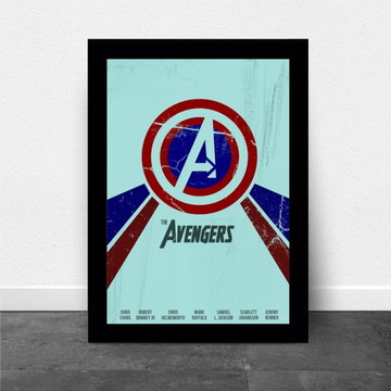 Poster com Moldura The Avengers