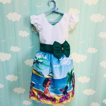 Vestido Moana Baby - 2 e 4