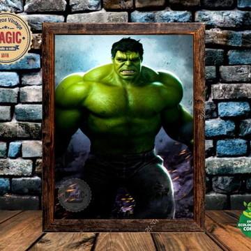 Quadro Rústico Hulk Vintage