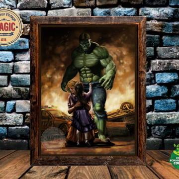 Quadro Rústico Hulk