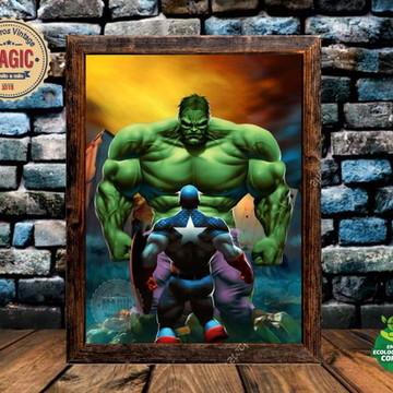 Quadro Rústico Hulk Retro