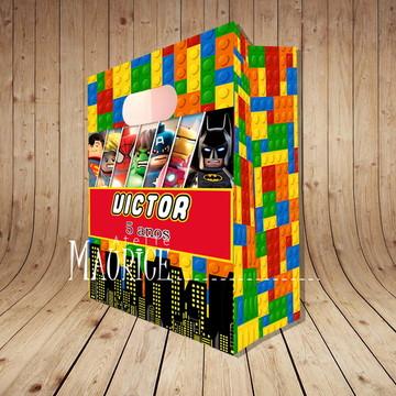 Sacola Grande Herois Lego Personalizada