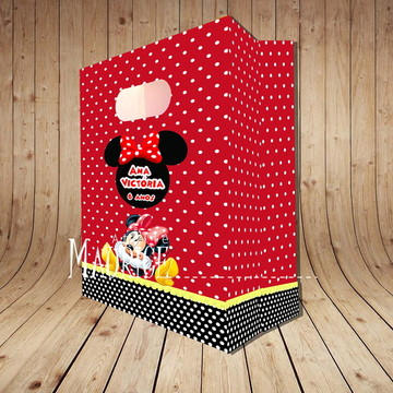 Sacola Grande Minnie Vermelha Personalizada