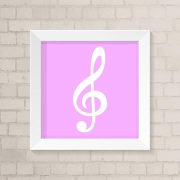 Quadro Infantil - Nota Musical