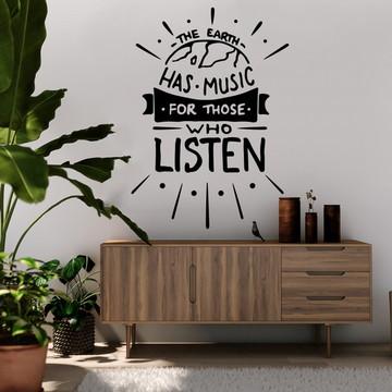 Adesivo de Parede Frase Music