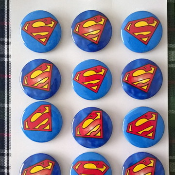 Cartela de Bottons Superman