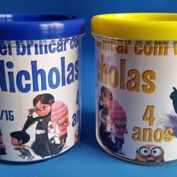 Caneca Acrílica Personalizada Minions- Nicholas