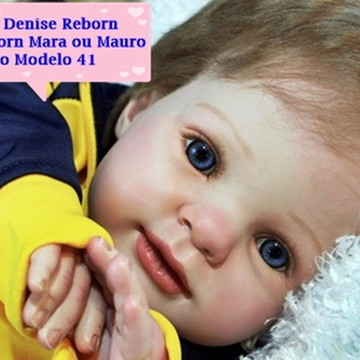 Boneca Bebê Reborn Mara ou Mauro 9 meses corpo de tecido