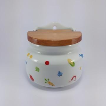 Saleiro de Porcelana Decorado